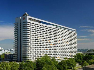 Außenansicht Sheraton Munich Arabellapark Hotel